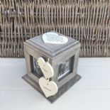 Shabby Chic PERSONALISED Rustic Wood Special Best Friend ANY NAME Photo Cube